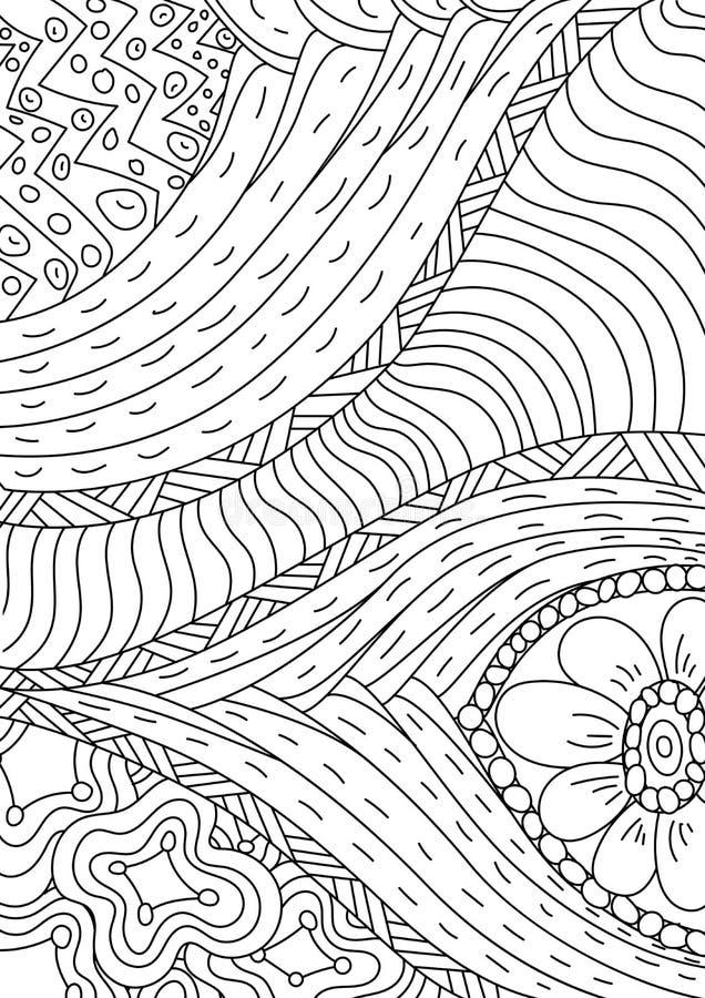 Wzór dla kolorystyki książki Etniczny retro projekt ilustracja wektor