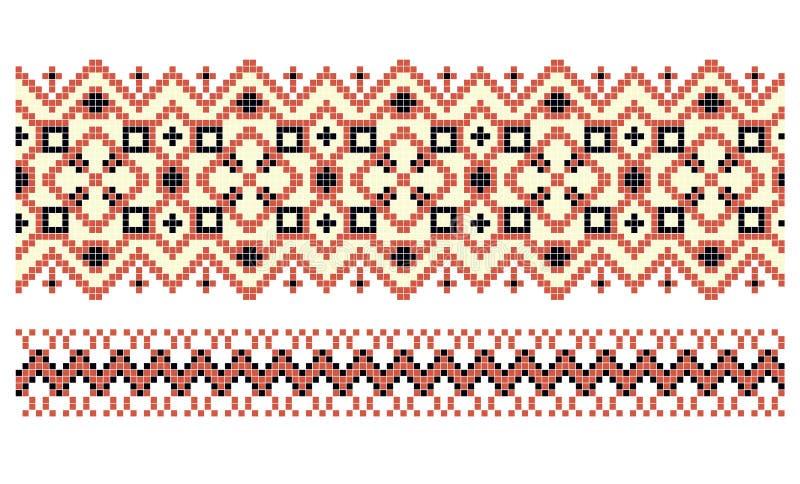 Wzór dla tradycyjnej Ukraińskiej ścieg broderii royalty ilustracja