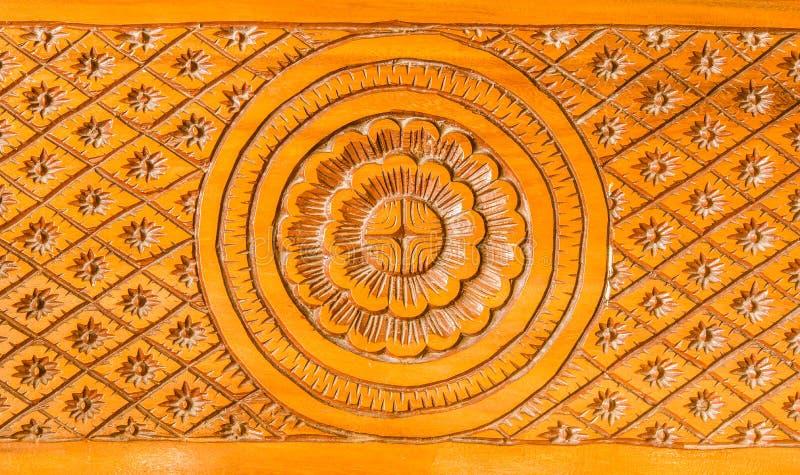 Wzór drewno rzeźbiący miejscowy zdjęcia royalty free