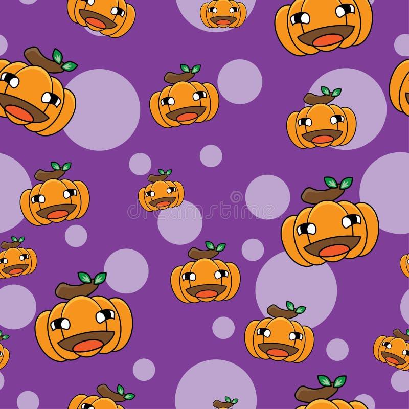 Wzór dyni rysunkowej na Halloween jest bezproblemowy w przypadku motywu świątecznego royalty ilustracja