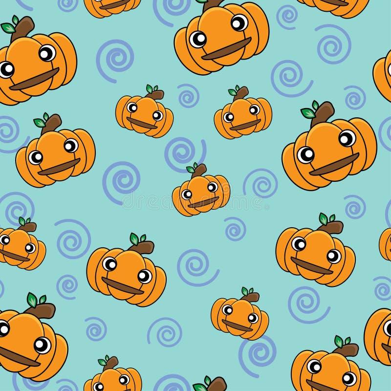 Wzór dyni rysunkowej na Halloween jest bezproblemowy w przypadku motywu świątecznego ilustracji