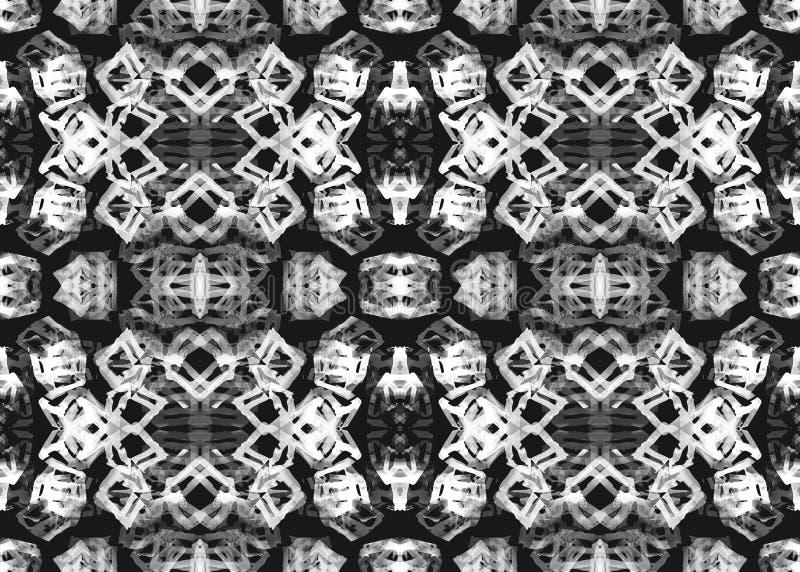 wzór etniczne Akwarela geometryczny bezszwowy wzór ilustracja wektor
