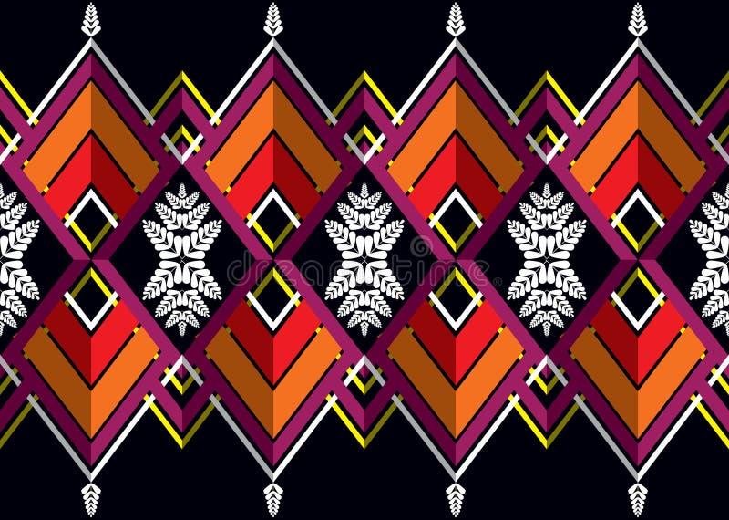 wzór etniczne Geometryczny deseniowy projekt dla tła lub tapety ilustracja wektor