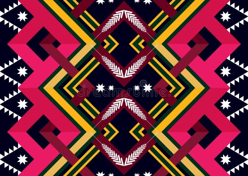 wzór etniczne Geometryczny deseniowy projekt dla tła lub tapety zdjęcie royalty free