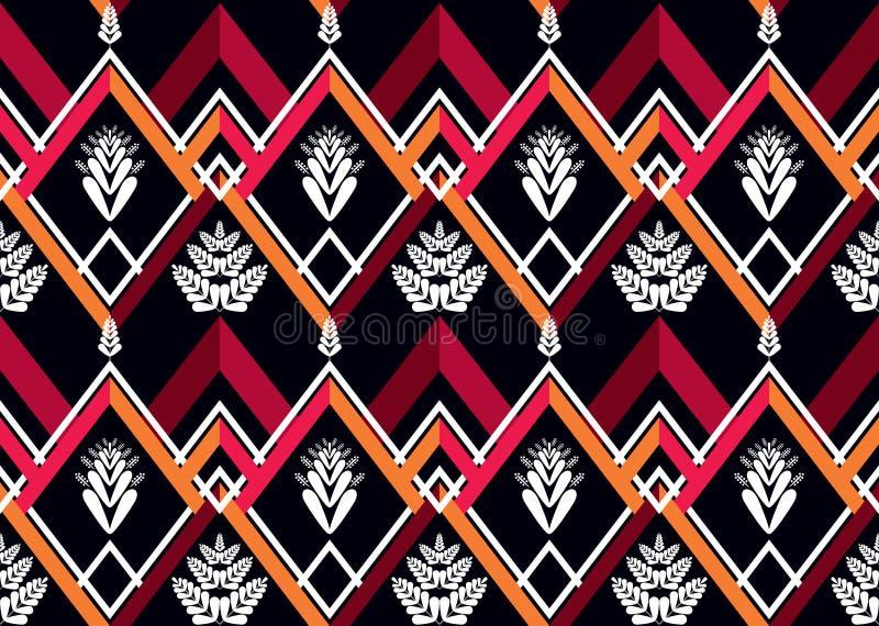 wzór etniczne Geometryczny deseniowy projekt dla tła lub tapety obraz stock