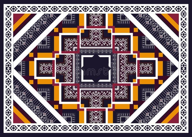 wzór etniczne Geometryczny deseniowy projekt dla tła lub tapety fotografia royalty free
