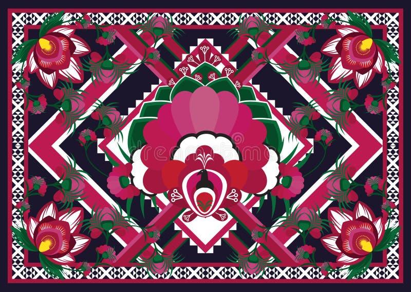 wzór etniczne Geometryczny deseniowy projekt dla tła lub tapety fotografia stock