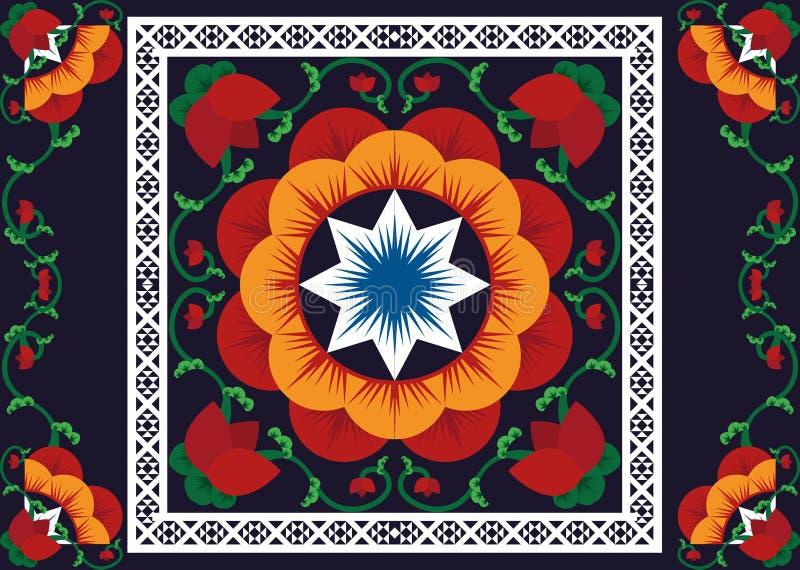 wzór etniczne Geometryczny deseniowy projekt dla tła lub tapety obrazy royalty free