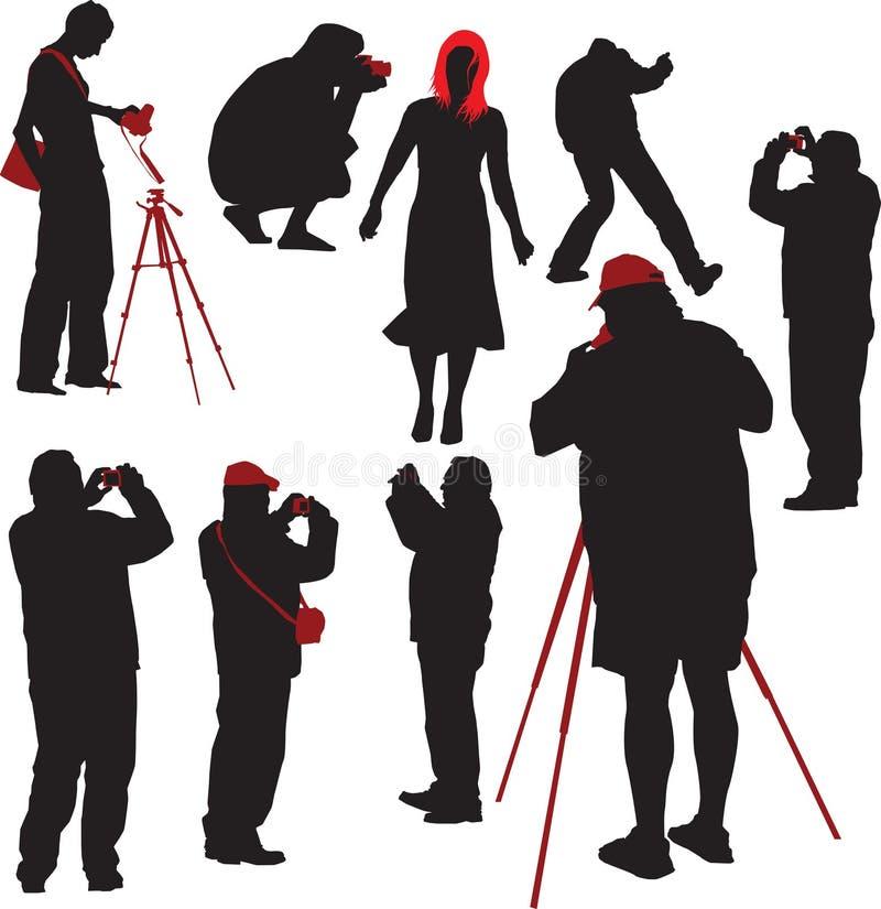wzór fotografów strzelać ilustracja wektor