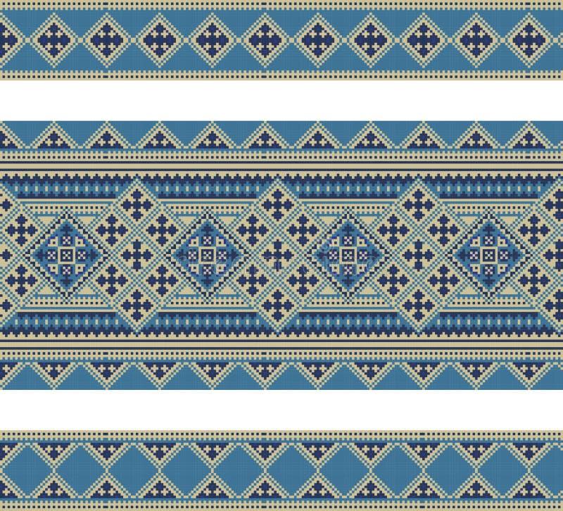 wzór geometrical postacie Ukraiński ludowy ornament ilustracji