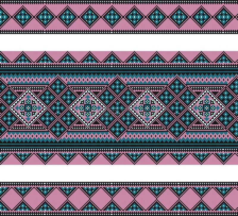 wzór geometrical postacie Ukraiński ludowy ornament royalty ilustracja