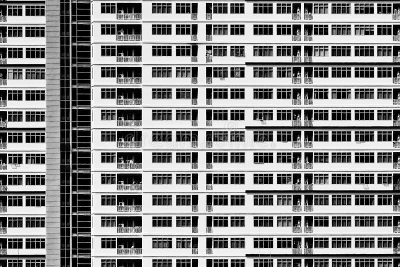 Wzór geometryczny architektura Wyszczególnia balkon budynek nowoczesna ściany Poligonalna struktura Czarny i biały abstrakt zdjęcia stock