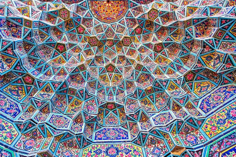 Wzór geometryczny w meczecie obraz stock