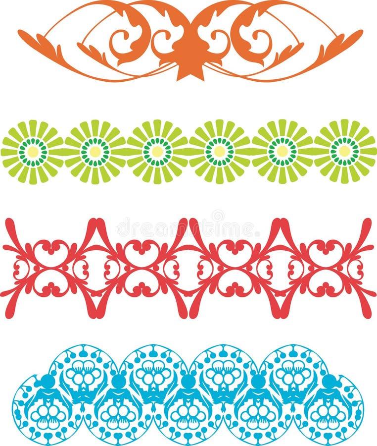 wzór graniczny royalty ilustracja