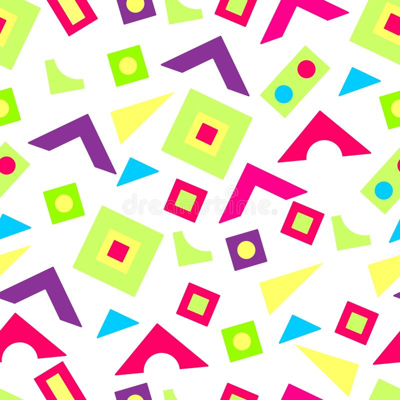 Wzór jaskrawy geometryczni kształty obrazy royalty free