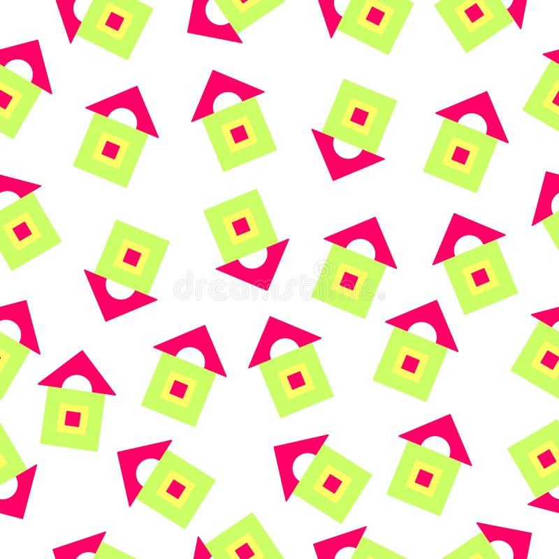 Wzór jaskrawy geometryczni kształty zdjęcie royalty free