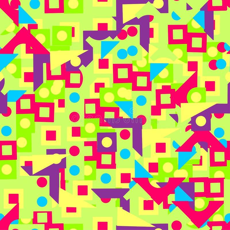 Wzór jaskrawy geometryczni kształty obrazy stock