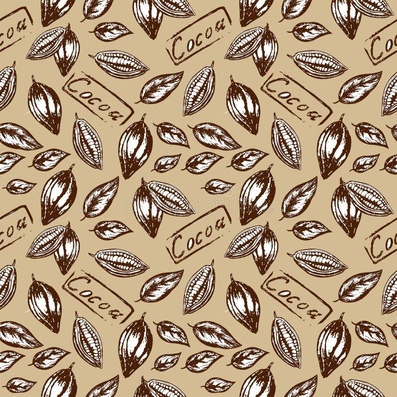 Wzór kakao ilustracji