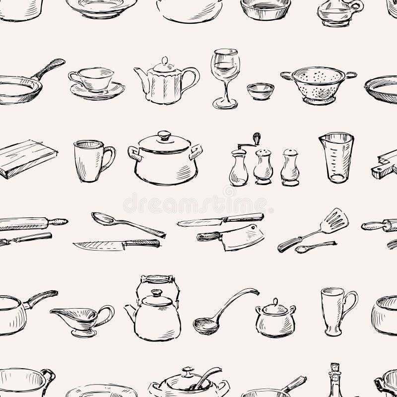 Wzór kitchenware ilustracji