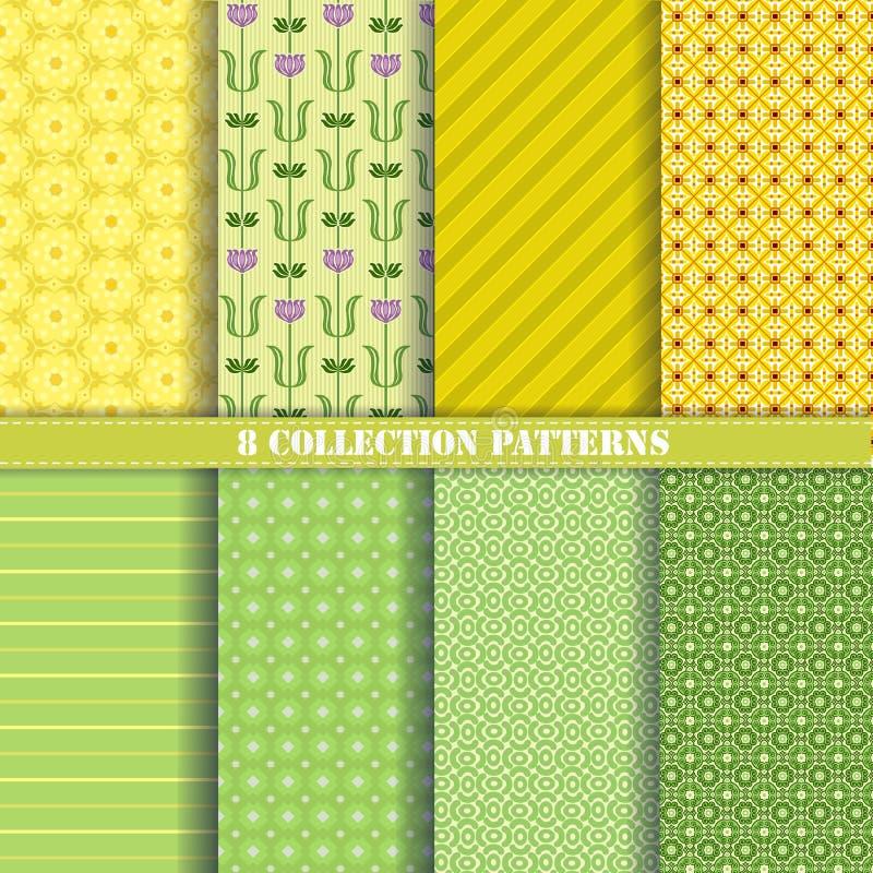 Wzór kolekci zieleń zdjęcia royalty free