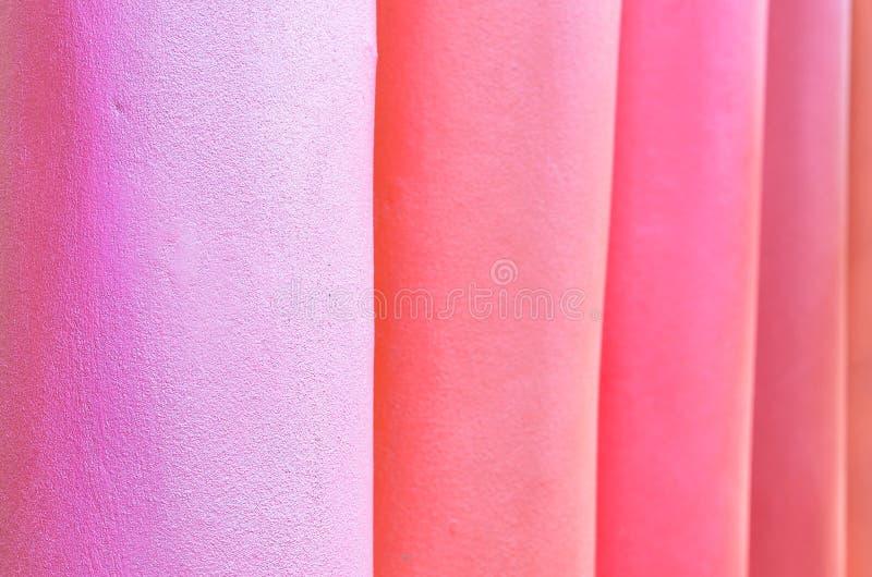 Wzór kolorowa słupa moździerza ściany tekstura i tło, wybrana ostrość obrazy royalty free