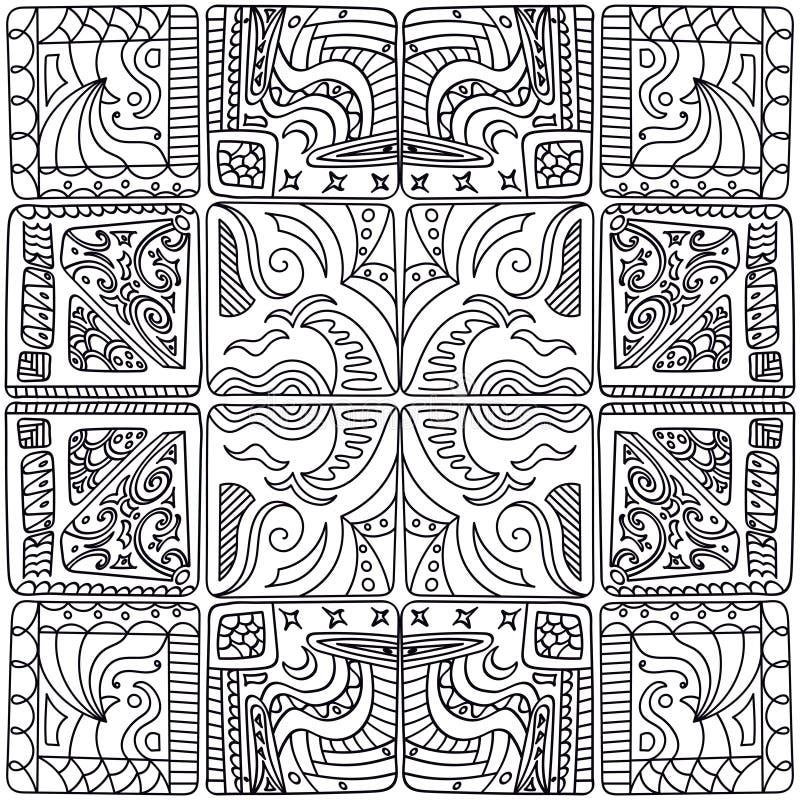 Wzór kwadraty ilustracja wektor