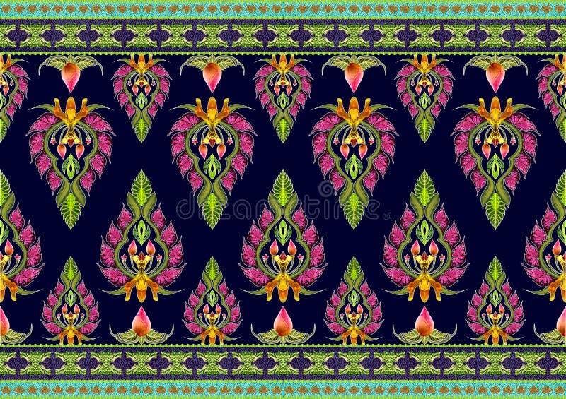 Wzór kwiaty i liście obraz stock