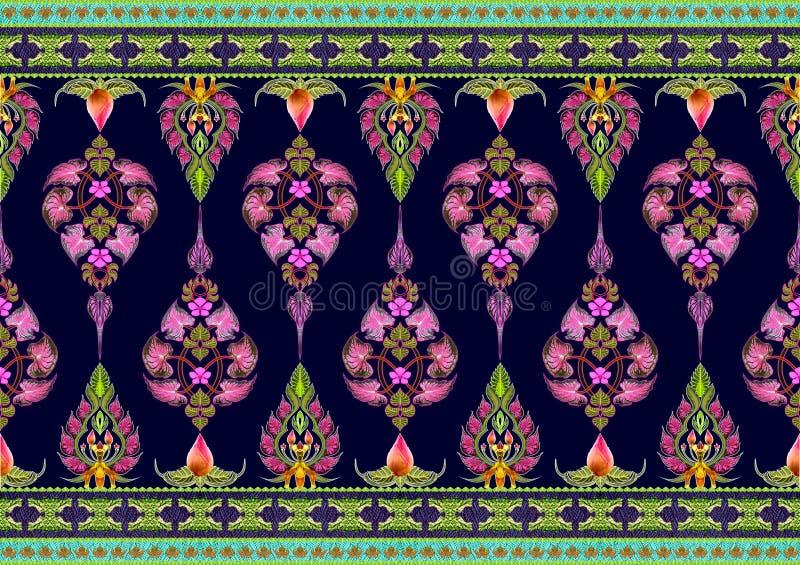 Wzór kwiaty i liście obraz royalty free
