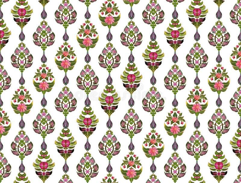 Wzór kwiaty i liście zdjęcie stock