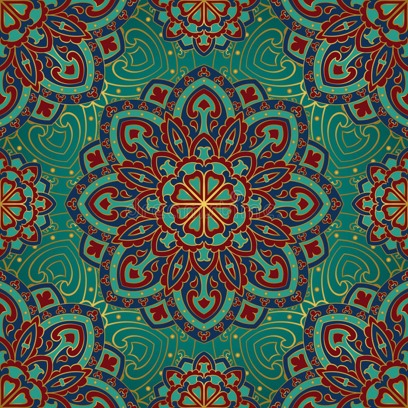 Wzór mandalas dla tkaniny royalty ilustracja