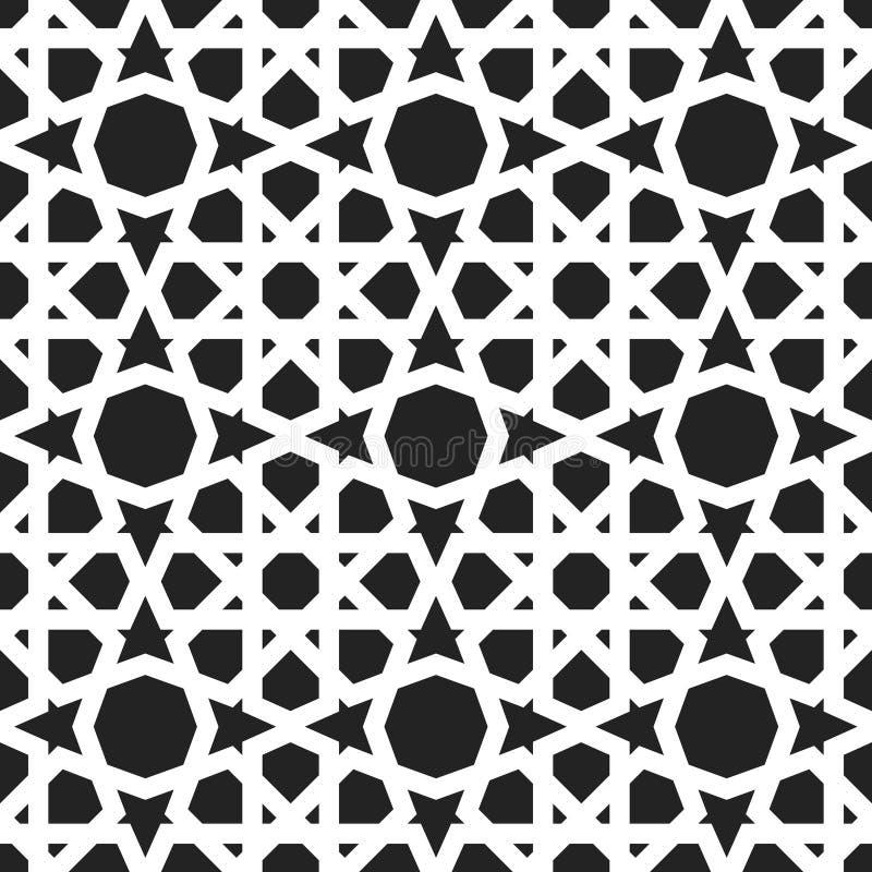 wzór maroka Wschodni tradycyjny styl royalty ilustracja