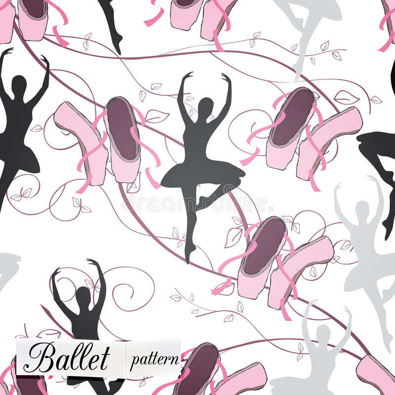 Wzór Na Baletniczym Temacie Obrazy Royalty Free