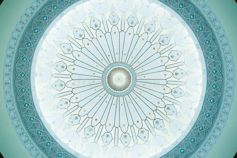 Wzór na Kopuła Suficie zdjęcie stock