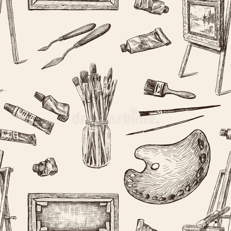 Wzór narzędzia dla malować ilustracji