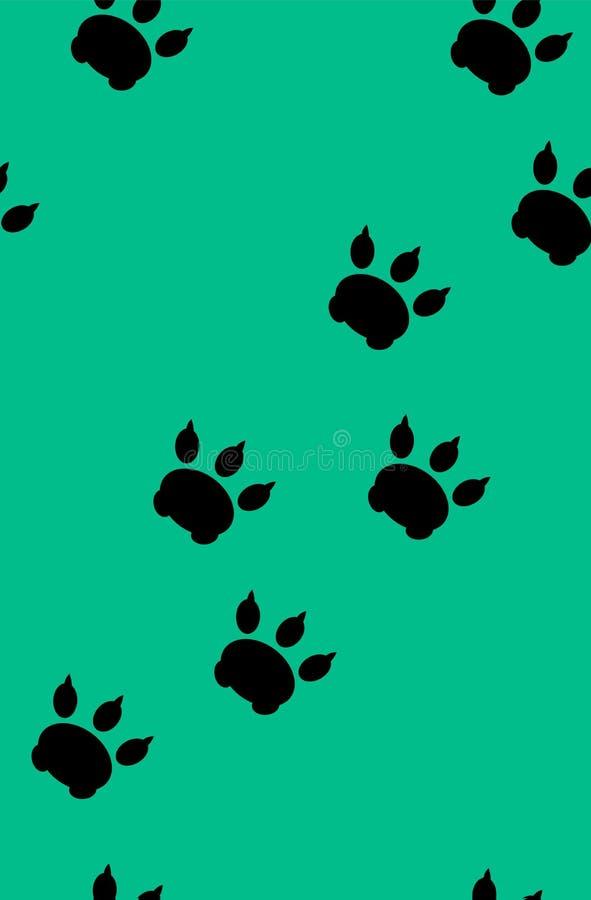 Wzór od śladów zwierzę domowe ilustracja wektor
