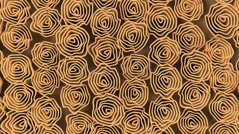 Wzór od pomarańczowych kwiatów ilustracji