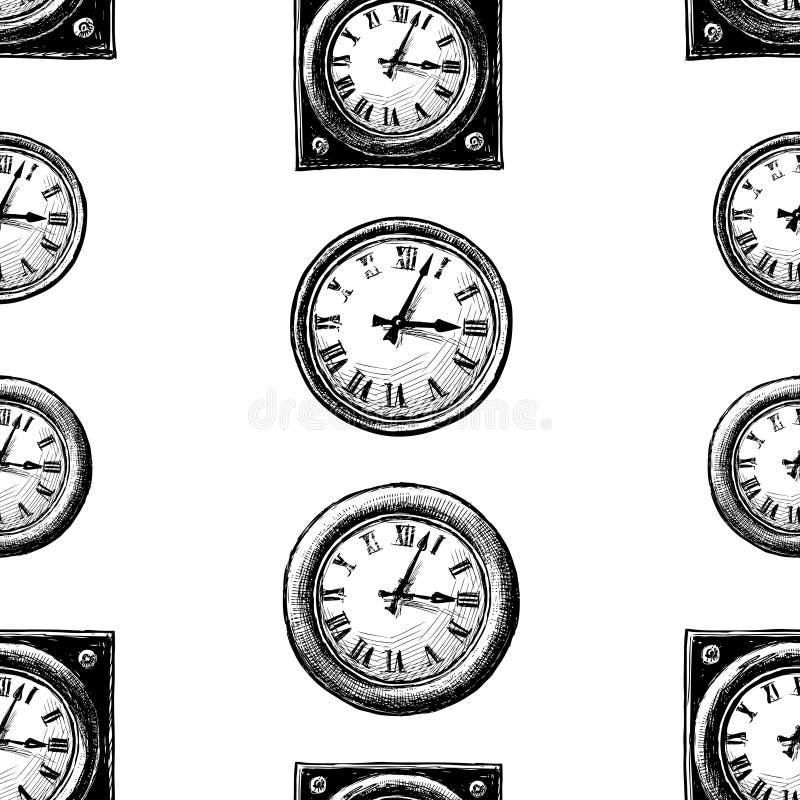 Wzór patroszeni zegary ilustracji