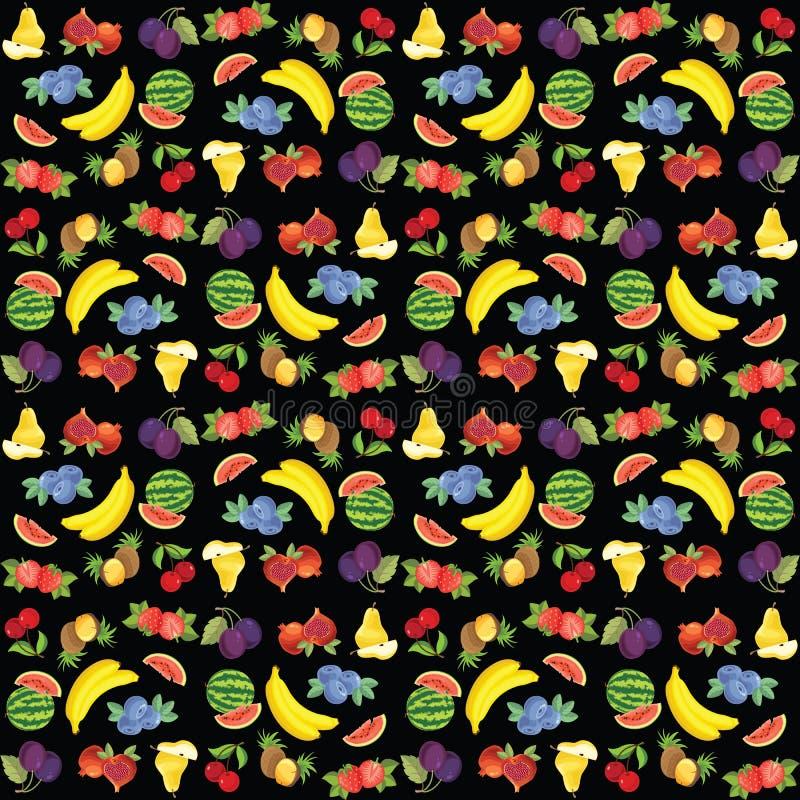 Wzór różna owoc ilustracja wektor
