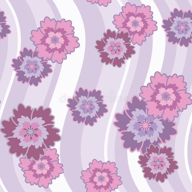 wzór różowy kwiat bez bezszwowe ilustracja wektor