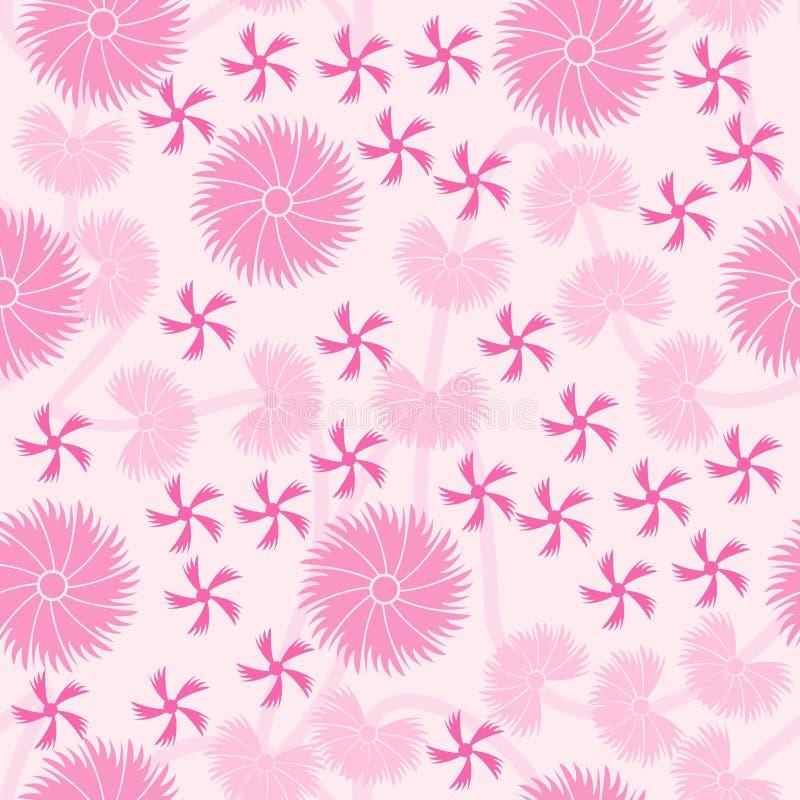 wzór różowy kwieciste tła bezszwowe ilustracji