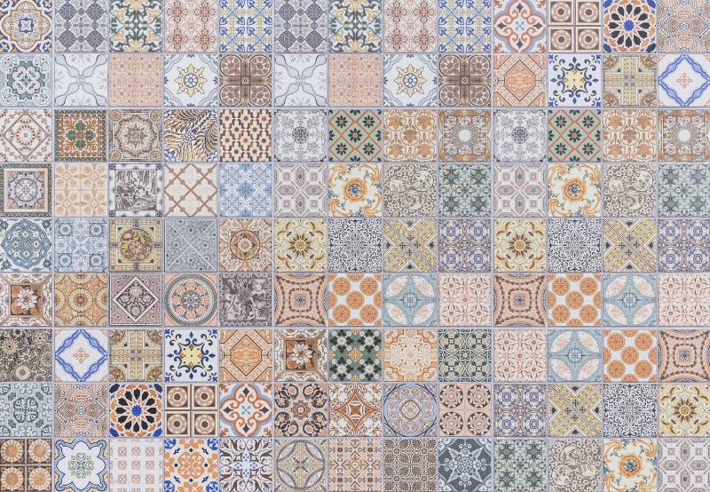 Wzór rocznika stylu ściany płytki tekstura zdjęcie royalty free