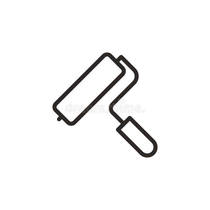 Wzór, rolownik, narzędziowa ikona Element projekta narz?dzie dla mobilnych poj?cia i sieci apps Cienieje kreskow? ikon? dla stron ilustracji