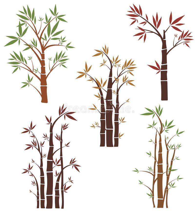 wzór serii drzewne ilustracji