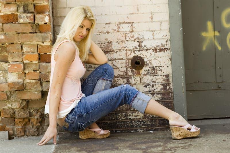 wzór sexy blondynkę obrazy stock