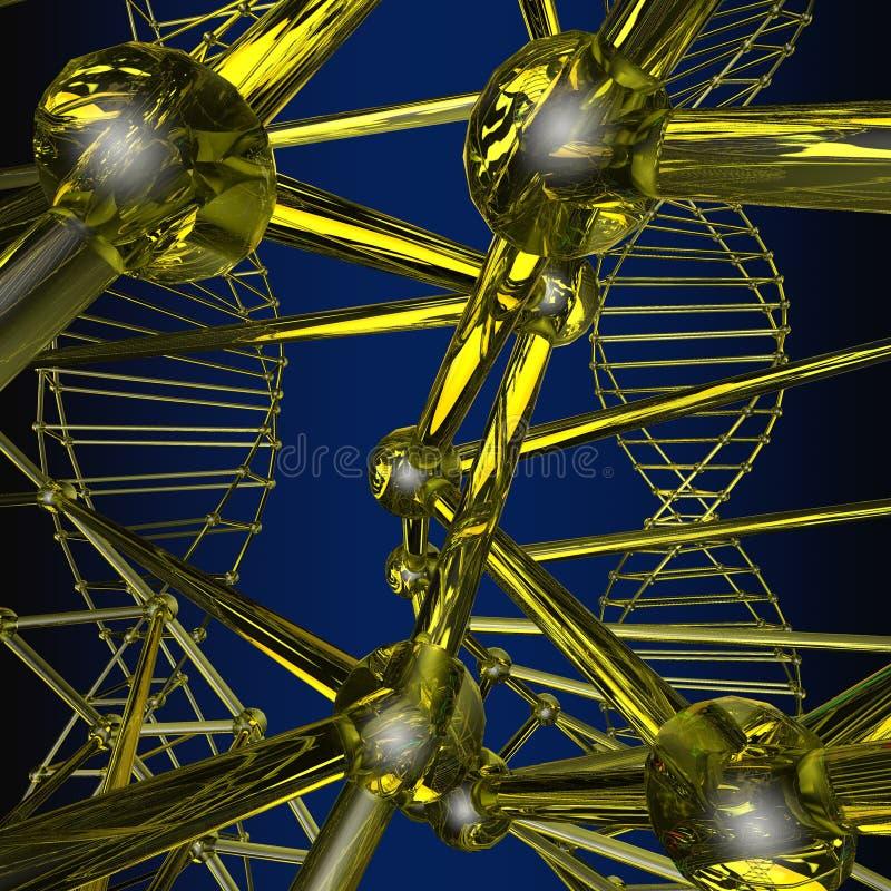 Wzór szyk kratownicy atom ilustracji