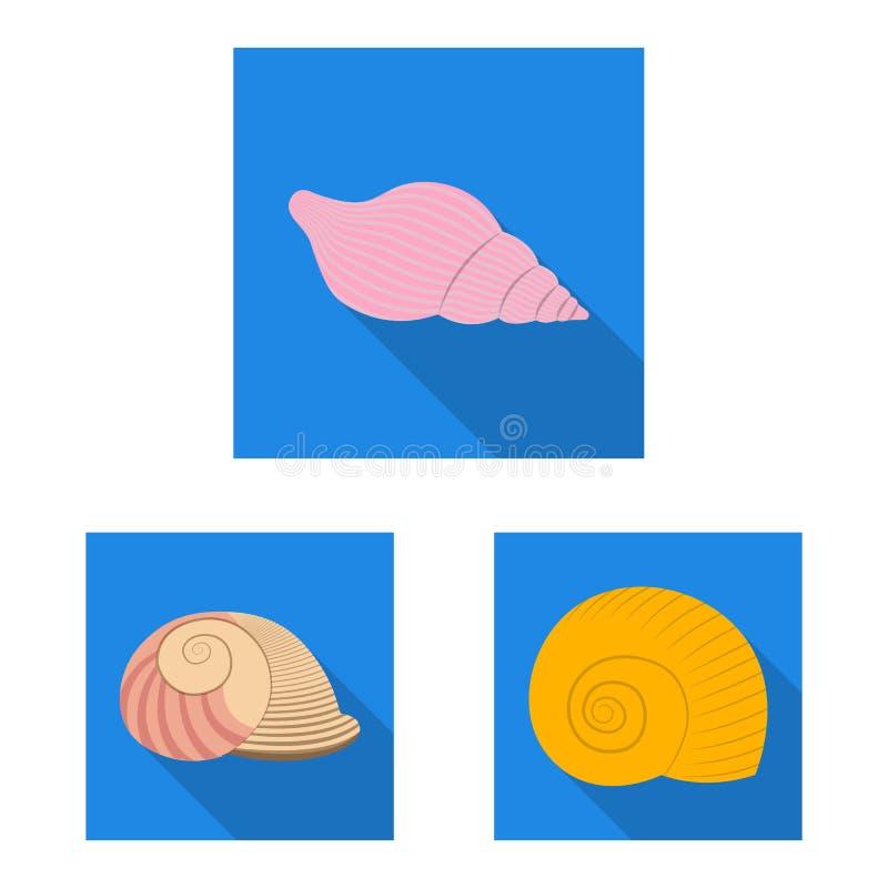 Wzór wektorowy logo zwierząt i dekoracji Zbiór symboli zasobów zwierzęcych i oceanicznych dla sieci ilustracji