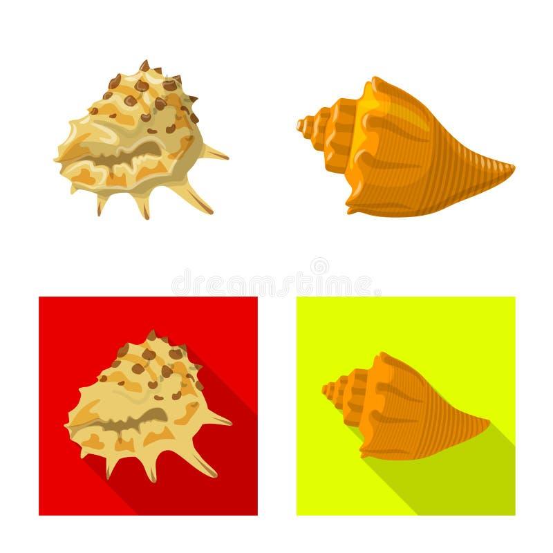 Wzór wektorowy zwierzęcia i symbolu dekoracyjnego Zbiór symboli zasobów zwierzęcych i oceanicznych dla sieci ilustracji