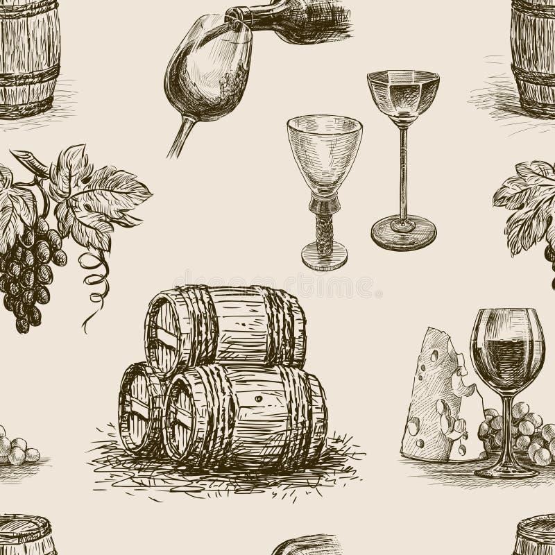 Wzór winemaking ilustracji