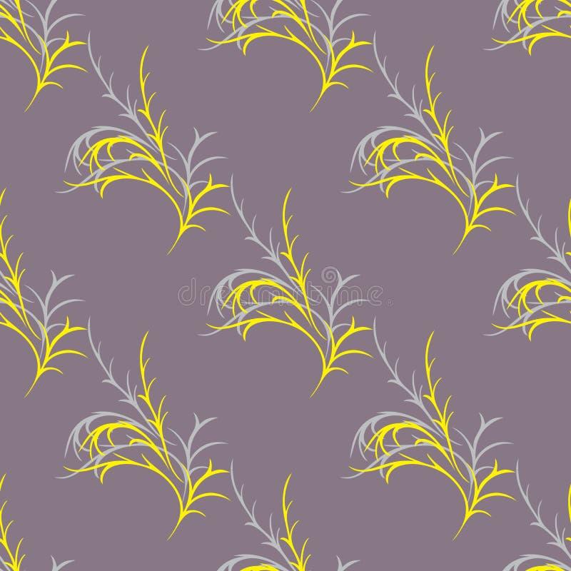 Wzór z żółtymi sprigs fotografia stock