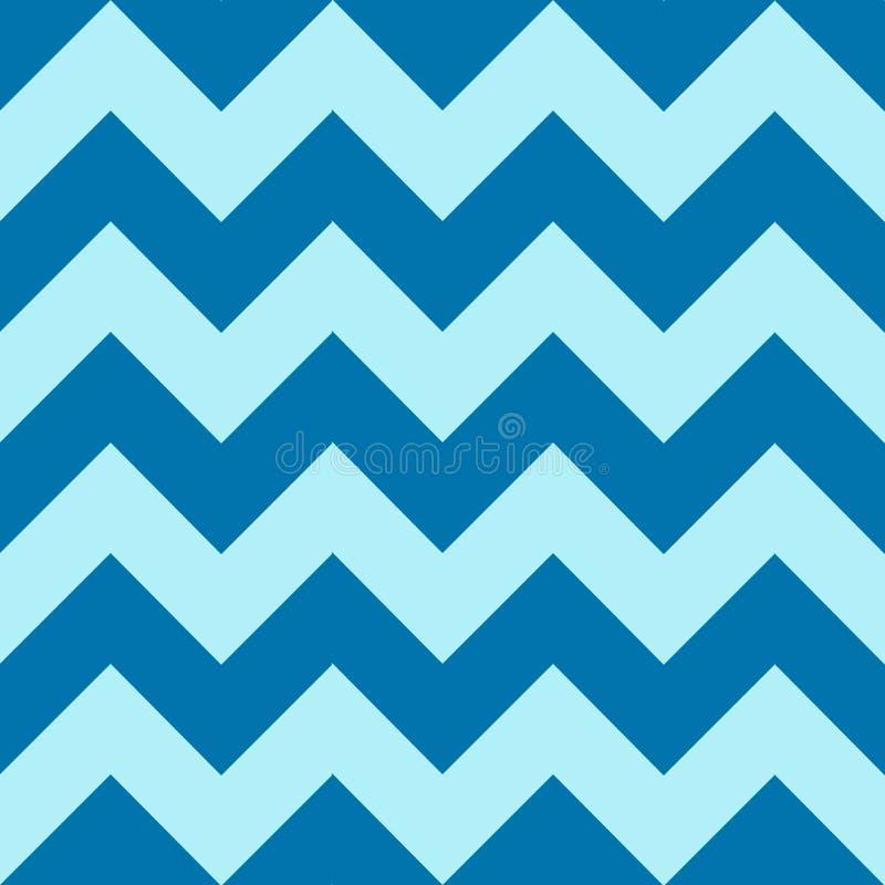 Wzór z błękita zygzag na kolorowym tle fotografia stock